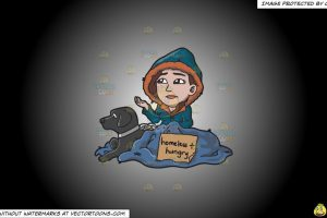homeless beggar clipart black and white 3
