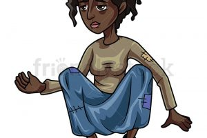 homeless beggar clipart black and white 6