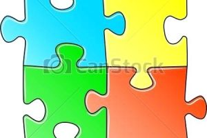 multi-color jigsaw puzzle human head clipart