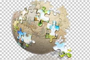 multi-color jigsaw puzzle human head clipart 3