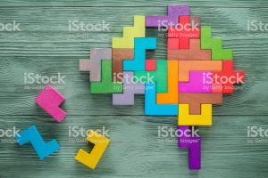 multi-color jigsaw puzzle human head clipart 6