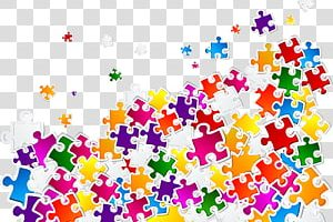 multi-color jigsaw puzzle human head clipart 7