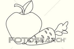 outline carrot clipart black and white 2