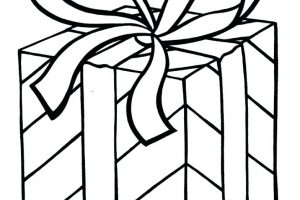 outline christmas present clipart black and white