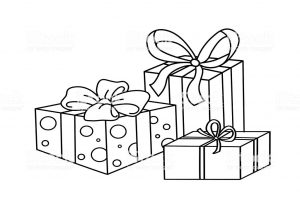 Coloring Page Outline Of cartoon holiday gifts. Coloring book for kids