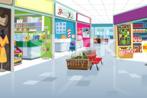 outside shopping mall clipart 1