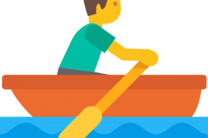 row boat side profile clipart png