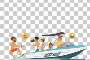 row boat side profile clipart png 1