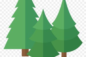 row of christmas trees clipart