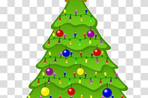 row of christmas trees clipart 2