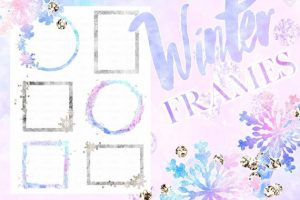 snowflake borders clipart