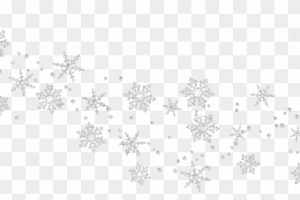 snowflake borders clipart 1