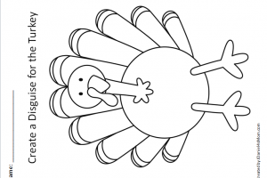 turkeys in disguise clipart