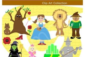 wizard book templet clipart 3