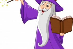 wizard book templet clipart 4