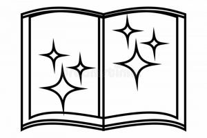wizard book templet clipart 7