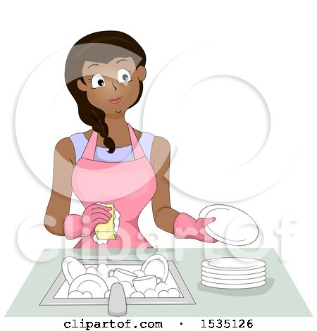 Woman doing dishes clipart » Clipart Station (450 x 470 Pixel)