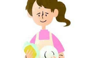 woman doing dishes clipart 1