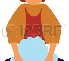 woman doing dishes clipart 5