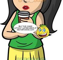 Connie Drinking Coffee From A To Go Cup