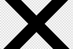 x mark clipart black and white 2