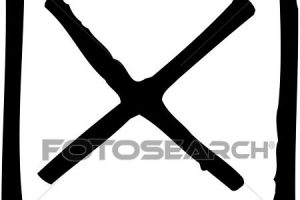 x mark clipart black and white 3
