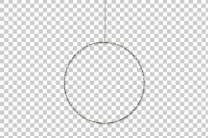 xmas lights in a square clipart 1