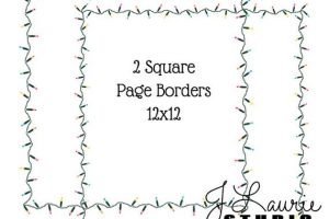 xmas lights in a square clipart 6