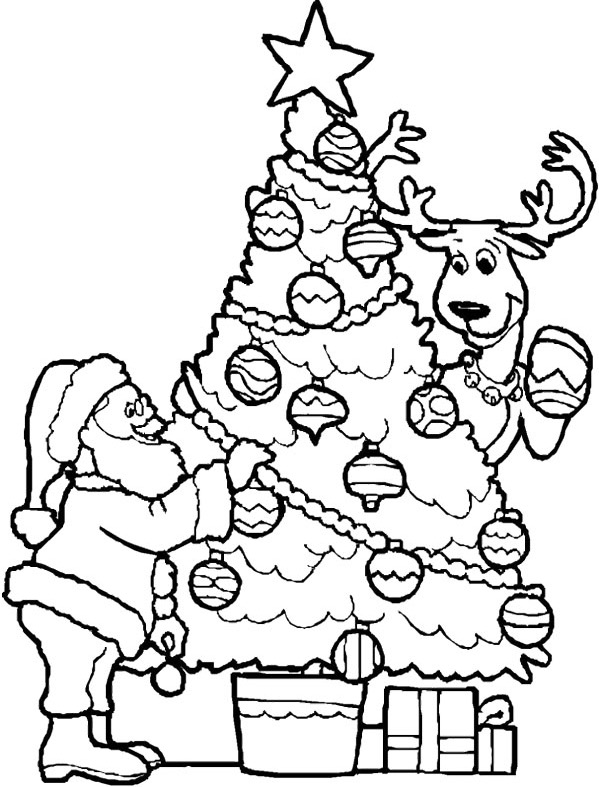Simple Christmas Tree coloring page | Free Printable Coloring Pages | 787x599