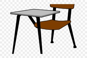 students near desk clipart 3